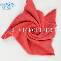 Wholesale HUIJIE Supplier MIcrofiber Hand Towel Red color Microfiber Cleaning Cloth FOR Home use from china suppliers