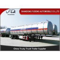 Quality Carbon Steel 15000 Gallon 50m³ Fuel Tanker Semi Trailer 12 Wheeler Plam Oil Transport for sale