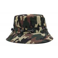 Wholesale Customized Camouflage Bucket Hat , Flat Cotton Camo Boonie Hat For Climbing from china suppliers