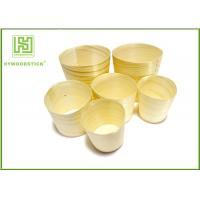 Buy cheap Promotional Unique Disposable Wooden Icecream Cups With Different Shape from wholesalers