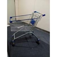 Wholesale Chrome Plated Iron Wire Shopping Trolley / Movable Store Hand Wire Shopping Cart from china suppliers