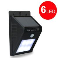 Wholesale Home solar street light 6 human body induction led solar energy wall lamp Garden lights from china suppliers