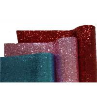 Wholesale Chunky Leather Wallpaper Glitter Material Fabric PU Backing For Card Making from china suppliers