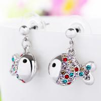 Wholesale Ref No.: 405015 Clownfish costume earrings for women Elements Swarovski rhinestones accessory jewelry wholesale from china suppliers