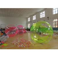 Wholesale PVC 2.0m Green / Transparent Inflatable Water Ball For Swimming Pool from china suppliers