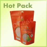 Wholesale Chia Seed Food Packaging Stand Up Zipper Pouch With Transparent Window from china suppliers