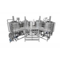 Wholesale 3500L Electric Heating 4 Vessel Brewhouse With Dimple Plate Jacket For Fermentation System from china suppliers