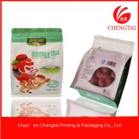Wholesale Ziplock Side Gusseted Plastic Flat Bottom Pouches for Cookie / Snack 250 G from china suppliers