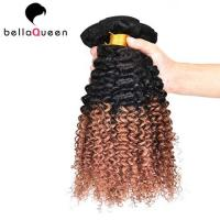 Wholesale Two Tones Ombre Remy Hair Extensions ,  Curly Human Hair Weaving For Black Women from china suppliers