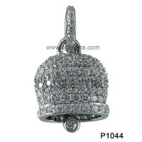 Wholesale 925 Silver Bell Charm Pendant Gemstone Jewellery White Topaz  For Party / Wedding from china suppliers