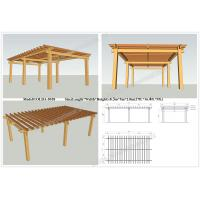 Wholesale plastic wood pergola for sale 27ft.*16.4ft.*9ft.(OLDA-5018) outdoor decoration from china suppliers