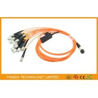 Wholesale Orange Flat MPO MTP Fiber Cables OM1 ( 62.5 / 125um ) , FC Fan - Out Fiber Optic Patch Cord from china suppliers