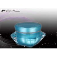 Wholesale Eco Friendly Sky Blue Plastic Jar Containers 42 Mm Height , Round Plastic Jars from china suppliers