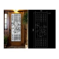 Buy cheap Decorative Iron And Glass Doors For Entry Doors 15.5*39.37 / Custom Size from wholesalers