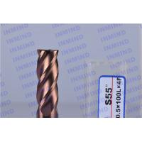 Wholesale Long Shank 4 Flute Solid Carbide Corner Radius End Mill With SiN Coating from china suppliers