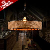 Wholesale Vintage Rope Pendant Light Lamp Loft Creative Personality Industrial Lamp E27 Edison Bulb American Style For Living Room from china suppliers