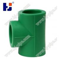 China Plastic pipe fittings PPR equal tee on sale