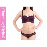 Wholesale Elegant Mature Ladies Bra Sets , Transparent ladies panties and bra set from china suppliers
