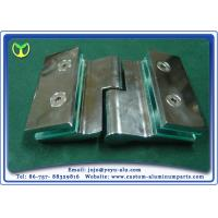 Wholesale Gloss Silver Aluminium Door Profiles CNC Milling Machined Hinge from china suppliers