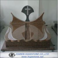 Wholesale Polishing Imperial Brown Granite Tombstone, Cross Shape Granite Monuments from china suppliers