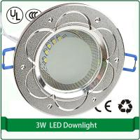 "Wholesale Free shipping 2.5"" 100mm aluminum shell downlight cutout 65mm 3W led downlights down light from china suppliers"