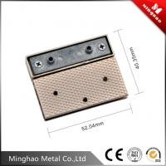 Metal zinc alloy lock for handbag,drip glue black retangular metal bag lock