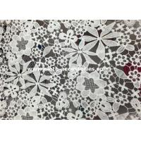 Wholesale Polyester  Floral Crochet Water Soluble Lace Fabric Matt Milk SGS / INTERTEK from china suppliers