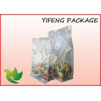 Wholesale Transparent Flat Bottom reusable food pouch Biodegradable , 250g from china suppliers