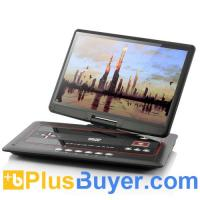 Wholesale 15.6 Inch Swivel Screen Portable DVD Player with Media Copy Function from china suppliers