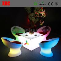 Wholesale Lighting coffee chair  indoor and outdoor furnituren GF106  light furniture plastic Led furniture High bar Chair from china suppliers