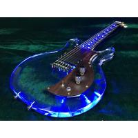 Wholesale Upgraded LED Light Electric Guitar Pull/Push Swtich Acrylic Body Electric Guitar from china suppliers
