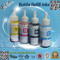 Wholesale 70ML CISS Refilling UV & Dye Based Ink Epson L100 L200 L300 L350 L550 L800 L801 Printer Refill Ink With ID Code from china suppliers