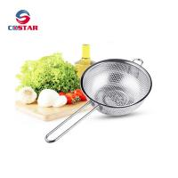Wholesale Kitchen Strainer Colander Basket - Fine Mesh Net Quality Stainless Steel Kitchen Sieve Strainer, Draining, Salad and Noo from china suppliers