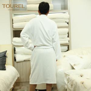 China Hotel Mattress Protectors White Luxury Towelling Bathrobe Terry Cloth Spa Robe on sale