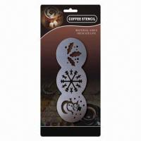 Wholesale Stainless Steel Coffee Stencil, 205 x 80mm 3-in-1 from china suppliers
