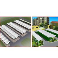Wholesale Large Metal Car Parking Shed Two Sided , Car Wash Shade Structures Permanent from china suppliers
