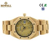 Wholesale Custom Bewell Women Size Lux Maple Wood Watch With Calendar And Japan Movement from china suppliers