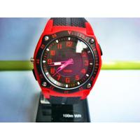 Wholesale Red Black Gents Led Analog Watches With Japan Movement 10 ATM Waterproof from china suppliers