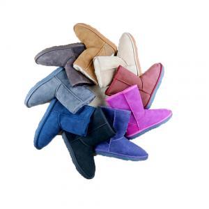 China Colors Australian Ladies Sheepskin Boots / Winter Warm Sheepskin Snow Boots on sale