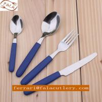 Wholesale Economic Food Grade 12 Pcs Navy Blue Handle Cutlery Flatware from china suppliers