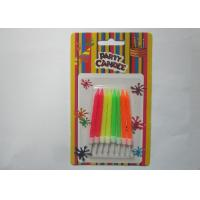 Wholesale Customized Fluorescence Spiral Birthday Candles 6CM Height for Kids Party from china suppliers