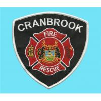 Wholesale Embroidered Fire-fighting and rescue crest, embroidery fire rescue badges, uniform crests from china suppliers