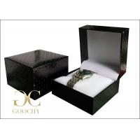 Wholesale Water Cube Plastic Watch Box / Wrist Watch Gift Box Black Outside from china suppliers