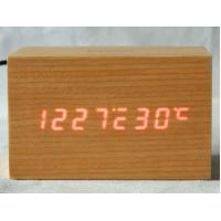 Wholesale Digital Jumbo LED Wood Clock Vintage Table Wooden Alarm Clock from china suppliers
