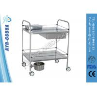 Wholesale Practical Hospital Stainless Steel Instrument Trolley / Hospital Hand Cart from china suppliers