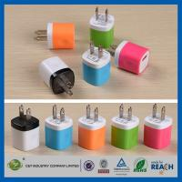 Wholesale USB Travel Home 1.0 Amp Power Adapter Wall Charger Plug For Iphone 6 / 6 Plus 5s Samsung from china suppliers