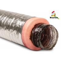 Wholesale Air conditioning Fire Resistant Insulated Aluminum Flexible Ducting , Insulated Vent Ducting from china suppliers