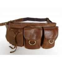Wholesale Lady Style Vintage Leather Popular Unisex Fanny Waist Pack Purse #6105 from china suppliers
