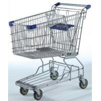 Wholesale Large Capacity Grocery Shopping Carts , 180L Wire 4 Wheeled Shopping Trolley from china suppliers