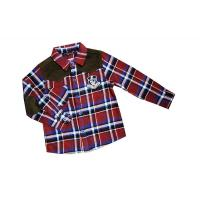Wholesale Fathion Red, Black, Green Lapel 4 - 15 Year Kids Plaid Shirts, check printing shirts from china suppliers